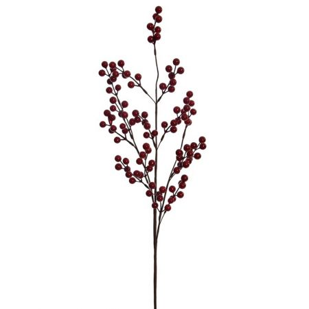 Χριστουγεννιάτικο κλαδί Berries - Γκι Κόκκινο 82cm