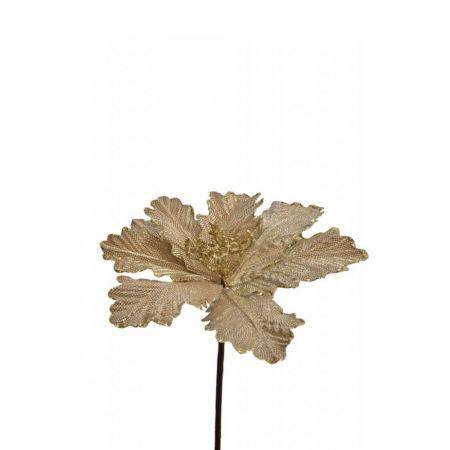 Χριστουγεννιάτικο Αλεξανδρινό λουλούδι Χρυσό 27cm