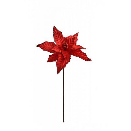 Χριστουγεννιάτικο Αλεξανδρινό λουλούδι Κόκκινο 65cm