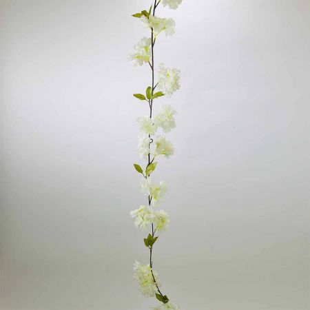 Ανοιξιάτικη γιρλάντα με Λευκά άνθη Κερασιάς 180cm