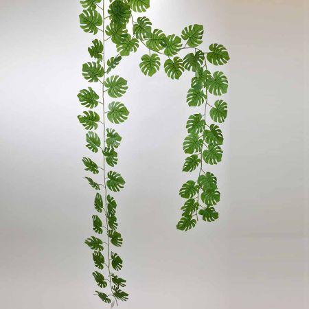 Διακοσμητική γιρλάντα με φύλλα Μονστέρα, 280cm