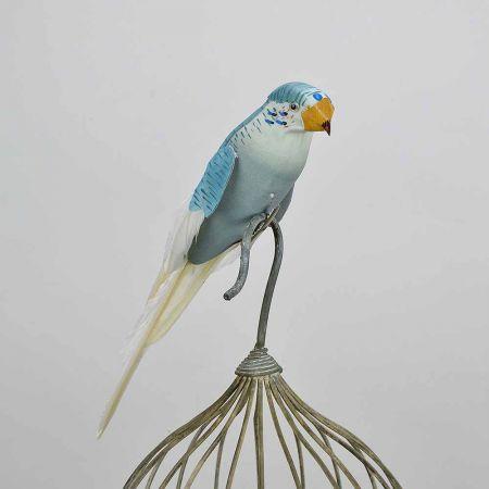 Διακοσμητικό παπαγαλάκι Parakeet Λευκό , 27cm