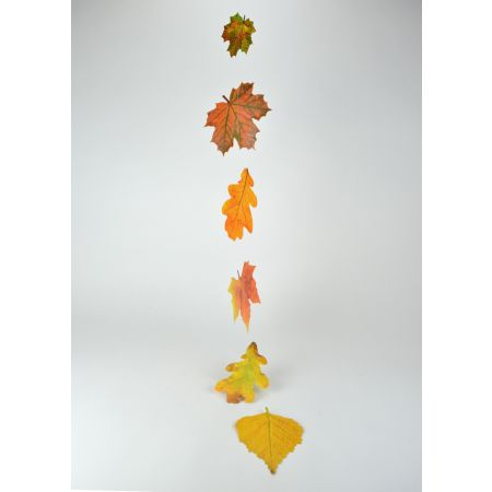 Διακοσμητική γιρλάντα με φύλλα, 125cm