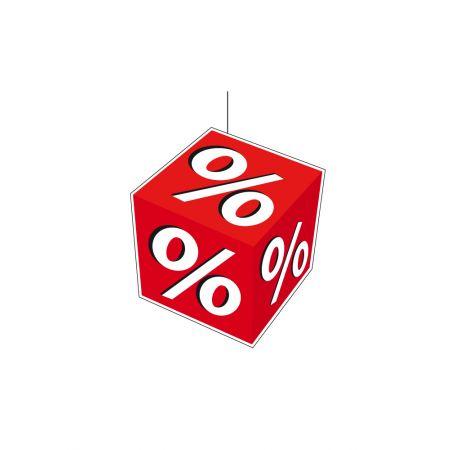 Διακοσμητικό εκπτωτικό κρεμαστό % 34x30 cm