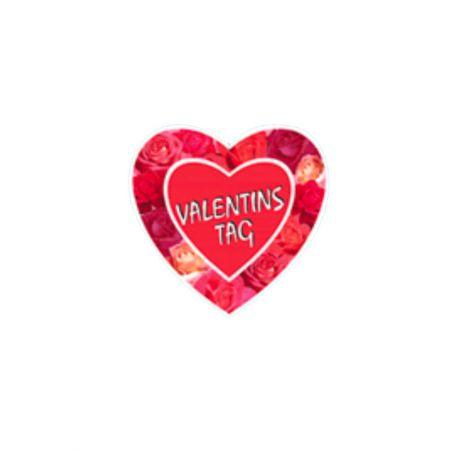 Διακοσμητική κρεμαστή χάρτινη Καρδιά HAPPY VALENTINES DAY 30cm