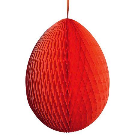 Διακοσμητικό Πασχαλινό αυγό κυψελωτό Κόκκινο 80cm