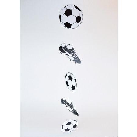 Διακοσμητική γιρλάντα με 3 μπάλες και 2 παπούτσια ποδοσφαίρου 100x15cm