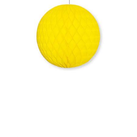 Χάρτινη μπάλα κυψελωτή Κίτρινη 40cm