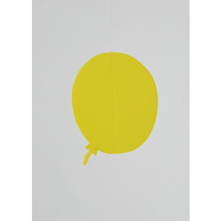Χάρτινο κρεμαστό μπαλόνι Κίτρινο 25cm