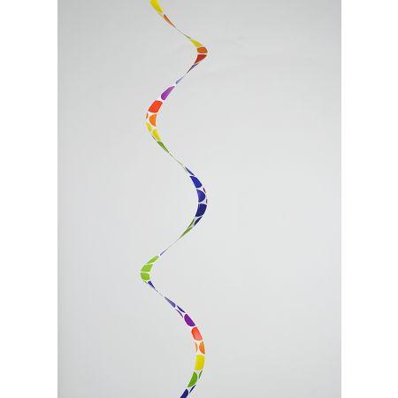 Χάρτινη γιρλάντα - σερπαντίνα Πολύχρωμη 33x400cm
