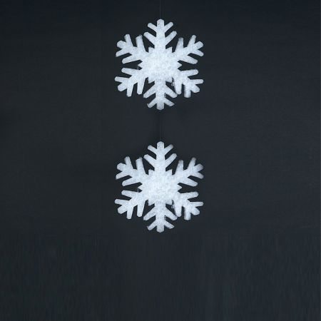 Σετ 2τχ Χιονονιφάδες από βάτα 2cm/17cm