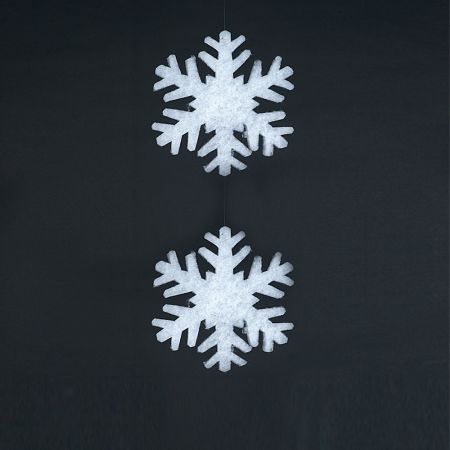 Σετ 2τχ Χιονονιφάδες από βάτα 2cm/29cm