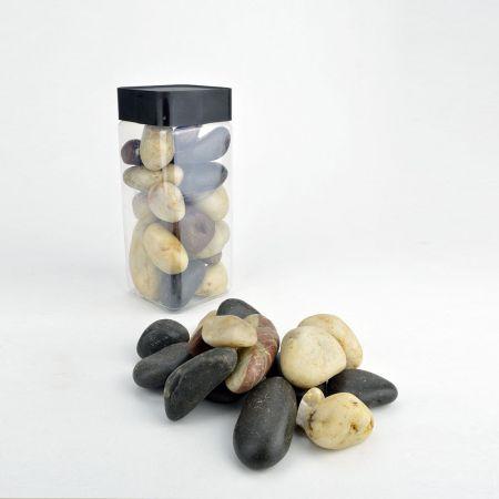 Συσκευασία 550ml πέτρες ποταμού - φυσικό υλικό.