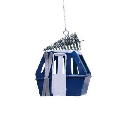 Κρεμαστό στολίδι lift μεταλλικό Μπλε 6x4,5x9,5cm