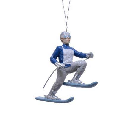 Κρεμαστό στολίδι - Αγόρι με σκι 3x10x11cm