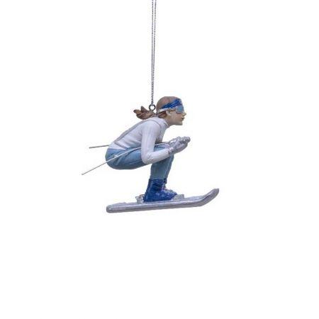 Κρεμαστό στολίδι - Κορίτσι με σκι 2,5x7x7cm