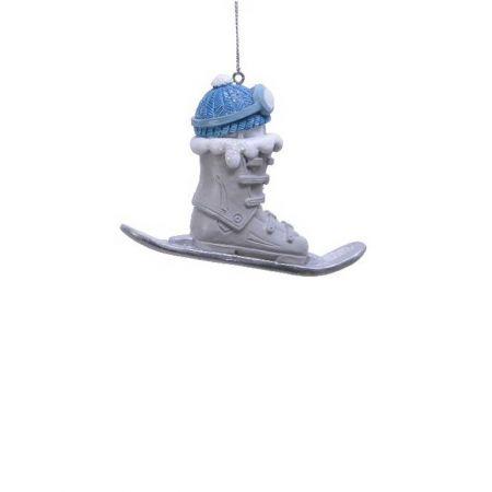 Κρεμαστό στολίδι - Πέδιλα σκι και μπότες 3,5x4,5x7,5cm