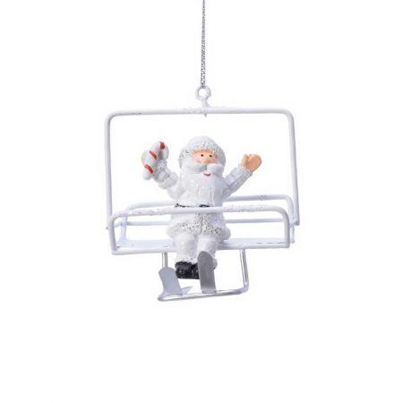 Κρεμαστό στολίδι Άγιος Βασίλης σε lift 8,5x5x7cm