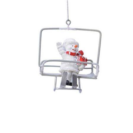 Κρεμαστό στολίδι Χιονάνθρωπος σε lift 8,5x5x7cm
