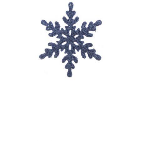 Σετ 2τχ Κρεμαστό στολίδι χιονονιφάδα Μπλε (Σχέδιο 01) 12cm