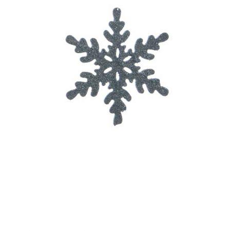 Σετ 2τχ Κρεμαστό στολίδι χιονονιφάδα Γαλάζιο (Σχέδιο 01) 12cm