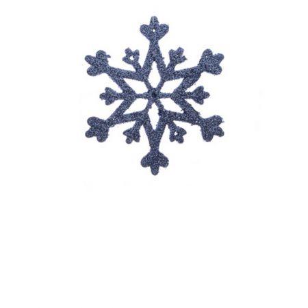 Σετ 2τχ Κρεμαστό στολίδι χιονονιφάδα Μπλε (Σχέδιο 03) 12cm