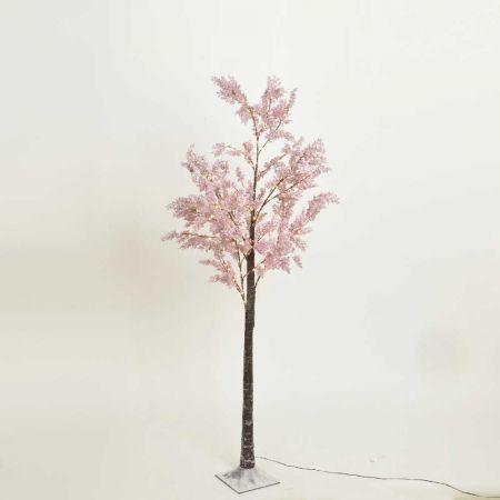 Φωτιζόμενο δέντρο Αμυγδαλιά 186LED IP44 Ροζ / Θερμό Λευκό LED 180cm