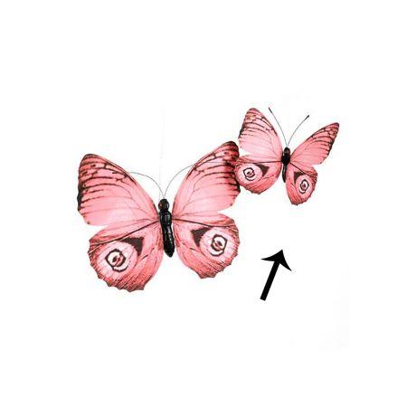 Διακοσμητική πεταλούδα Ροζ 30cm