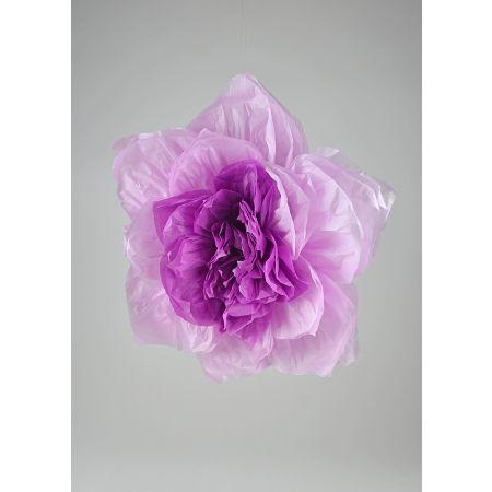 Διακοσμητικό χάρτινο άνθος λουλουδιού, Λιλά 45cm