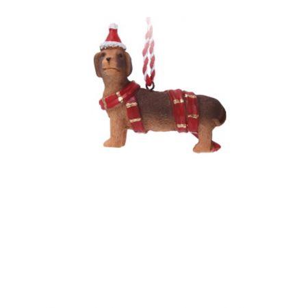 Χριστουγεννιάτικο κρεμαστό στολίδι - Σκυλάκι 7.5cm