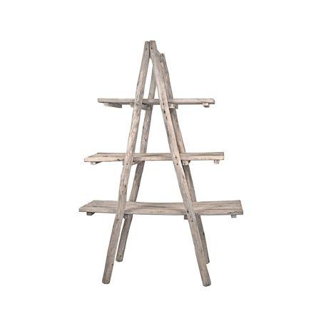 Διακοσμητική Σκάλα-Ραφιέρα Ξύλινη 170x120x47cm