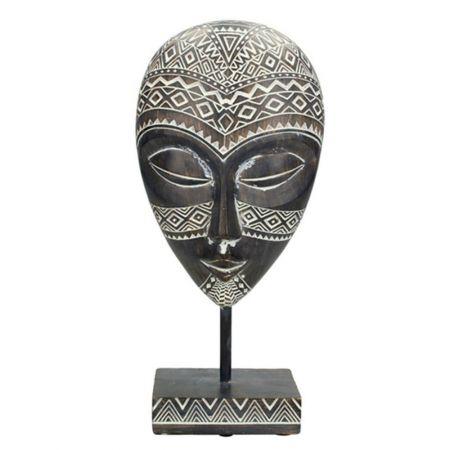 Επιτραπέζιο διακοσμητικό Αφρικάνικη μάσκα σε σταντ 13x28,5cm