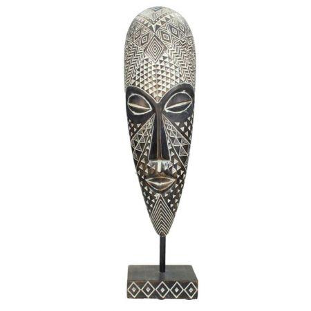 Επιτραπέζιο διακοσμητικό Αφρικάνικη μάσκα σε σταντ 10x40,5cm