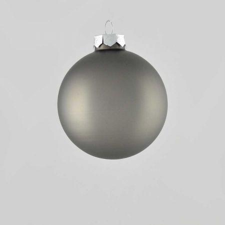 Χριστουγεννιάτικη μπάλα γυάλινη Ανθρακί ματ 8cm