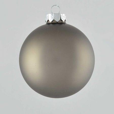 Χριστουγεννιάτικη μπάλα γυάλινη Ανθρακί ματ 10cm