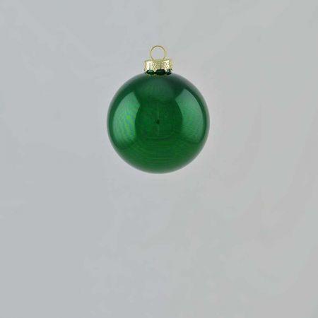Χριστουγεννιάτικη μπάλα γυάλινη Πράσινο γυαλιστερό 6cm