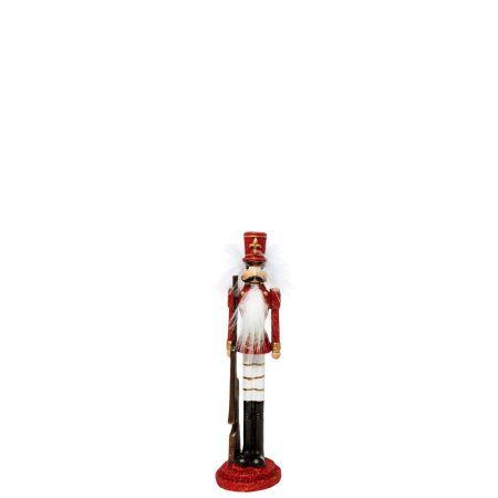 Κεραμικός Καρυοθραύστης, Μολυβένιος στρατιώτης Λευκός - Κόκκινος 6x6x24cm