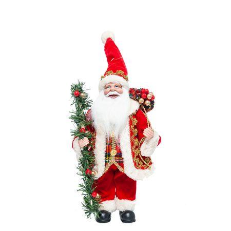 Διακοσμητικός Άγιος Βασίλης με γιρλάντα 30,5cm