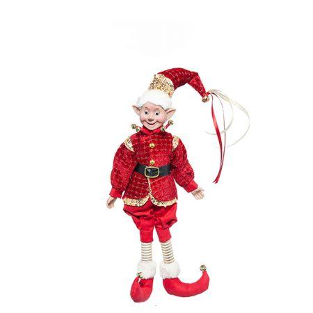 Χριστουγεννιάτικο ξωτικό - αρλεκίνος Κόκκινο 40cm