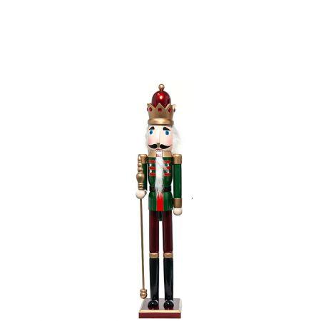 Ξύλινος Καρυοθραύστης, Μολυβένιος στρατιώτης Πράσινος 18x15x91cm