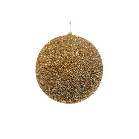 Διακοσμητική χριστουγεννιάτικη μπάλα Glitter Χρυσή 15cm