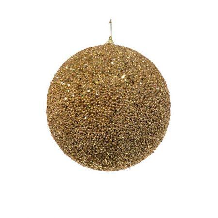 Διακοσμητική χριστουγεννιάτικη μπάλα Glitter Χρυσή 20cm