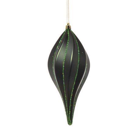 XL Χριστουγεννιάτικο στολίδι ανάγλυφο Πράσινο 20cm