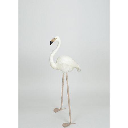 Διακοσμητικό Φλαμίνγκο Λευκό 88cm