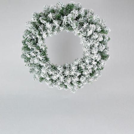 Χριστουγεννιάτικο στεφάνι χιονισμένο 60cm