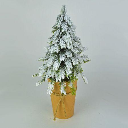 Χριστουγεννιάτικο δεντράκι mini σε craft χαρτί 40cm