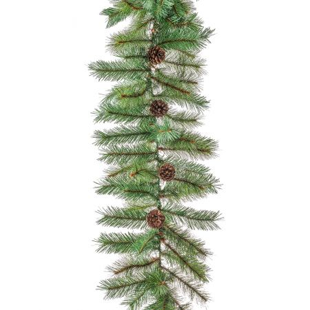 Διακοσμητική Χριστουγεννιάτικη γιρλάντα PVC με κουκουνάρια 270cm