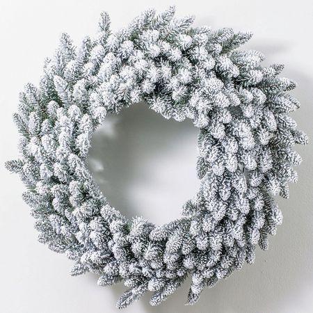 Χριστουγεννιάτικο στεφάνι χιονισμένο 150cm
