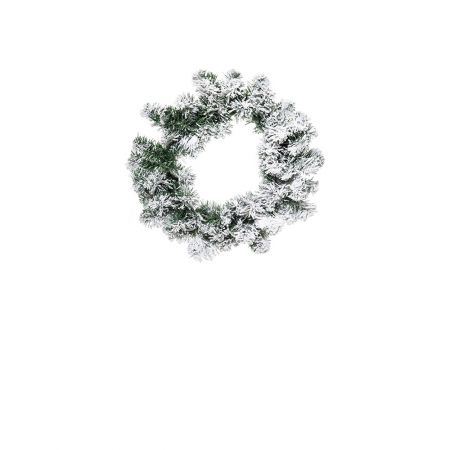 Χριστουγεννιάτικο στεφάνι χιονισμένο 30cm