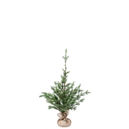 Χριστουγεννιάτικο δέντρο σαν αληθινό PE PLASTIC με βάση τσουβάλι 90cm